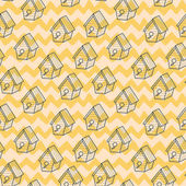 Doodle birdhouses. — Wektor stockowy