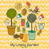 Garden set. — Stock Vector