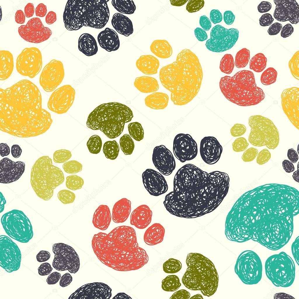 Patr n de huellas de perro archivo im genes vectoriales - Precio de somier con patas ...