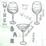 Wine glasses. — Stock Vector #53065487