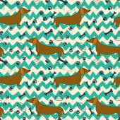 Dog pattern — Stock Vector