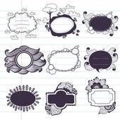 Doodle frames. — Stock Vector