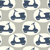 Doodle scooters pattern. — Stock Vector