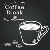 Coffee-break — Vetor de Stock