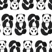 Pandas pattern. — Stock Vector