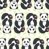 Pandas pattern. — Vector de stock