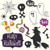 Halloween doodles — Stock Vector