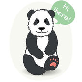 Panda bear. — Stock Vector