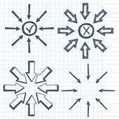 Arrows. — Stock Vector