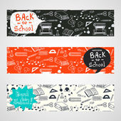 Banners back to school — Stock Vector