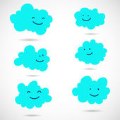 Doodle clouds — Stock Vector