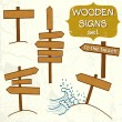 Wooden signs — Stock Vector #53073209