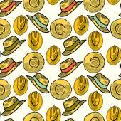 Hasır şapkalar — Stok Vektör