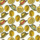 Słomkowe kapelusze — Wektor stockowy