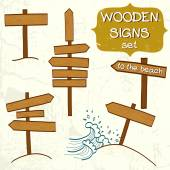 Wooden signs — Stock Vector