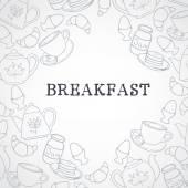 Breakfast set — Stock Vector