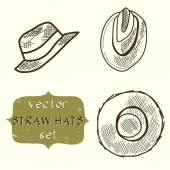 Hats. — Stockvektor