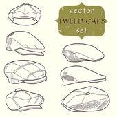 Caps — Stock Vector