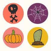 Halloween icons. — Stock Vector