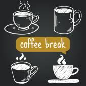 Coffee break. — Stock Vector