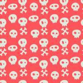 Skull pattern. — Stockvektor