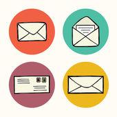 Iconos de correo. — Vector de stock