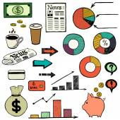 Icone affari. — Vettoriale Stock