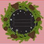 Christmas fir tree frame — Stock Vector #59286645