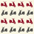 Scooters seamless pattern — Stock Vector #59286807