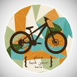 Mountain bicycle silhouette — Stock Vector #59287739