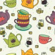 Seamless pattern with tea pots — Stock Vector #59287857