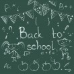 Back to school chalkboard sketch. — Stock Vector #59288225