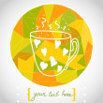 Hand drawn cartoon cup of tea. — Stock Vector #59288247