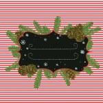 Christmas fir tree frame — Stock Vector #59288353
