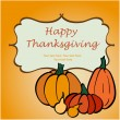 Thanksgiving greeting card with pumpkins — Stock Vector #59289153
