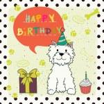 Greeting card with cartoon dog — Stock Vector #59289743