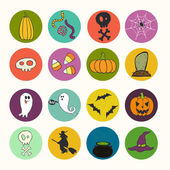 Hand drawn halloween icons — Stock Vector