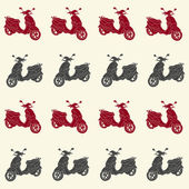 Scooters seamless pattern — Stock Vector