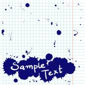 Notepad page with ink blots. — Stock Vector