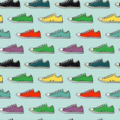 Sneakers seamless pattern — Stock Vector