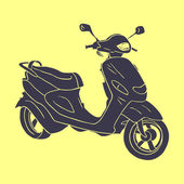 Hand drawn scooter — Stock Vector