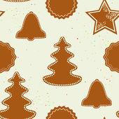 圣诞模式与姜饼 — 图库矢量图片