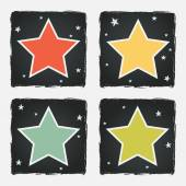 Different colorful stars — Stock Vector