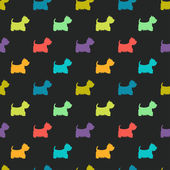 Pattern with colorful dog silhouettes — Wektor stockowy