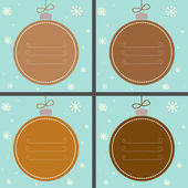 Four Christmas baubles — Stock Vector
