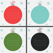 Four Christmas baubles — Stock vektor
