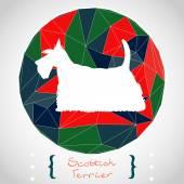 Scottish terrier silhouette — Stock Vector