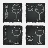 Set of glasses for  wine — Stock Vector