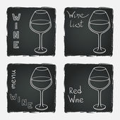 Set of glasses for  wine — Stockvektor