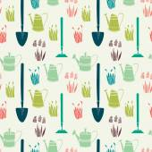 Garden seamless pattern — Stock Vector